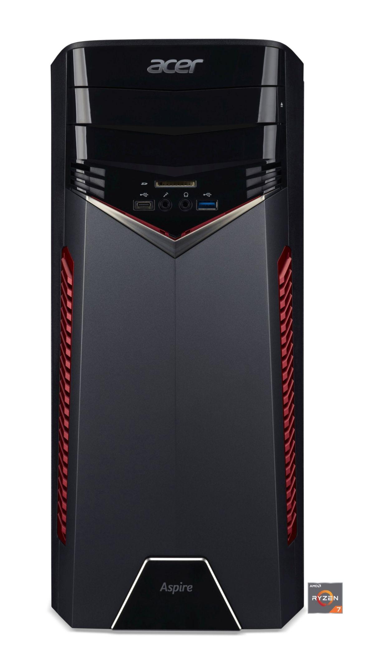 ACER Aspire GX 281 Desktop PC AMD Ryzen 7 RX 480 1 TB HDD 8 GB