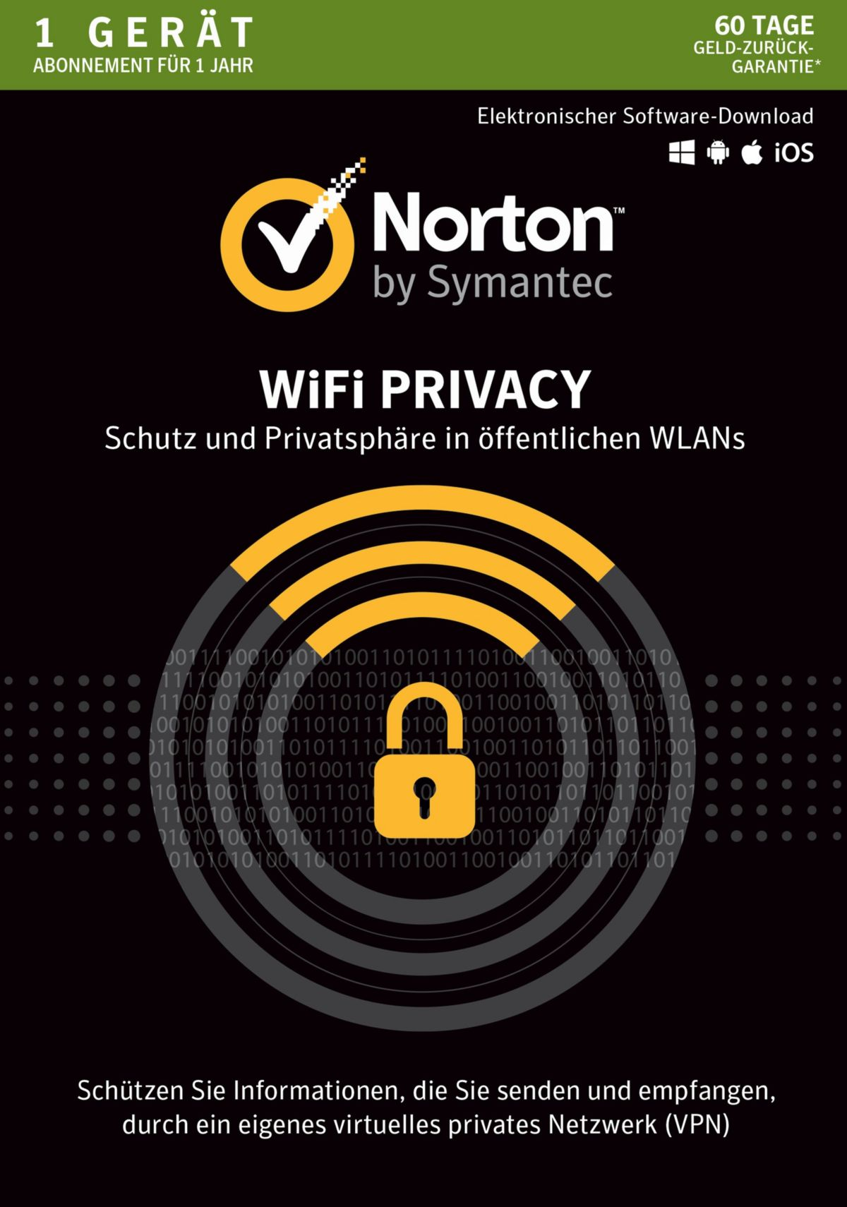 Norton WiFi Privacy »1 Benutzer, 1 Gerät«