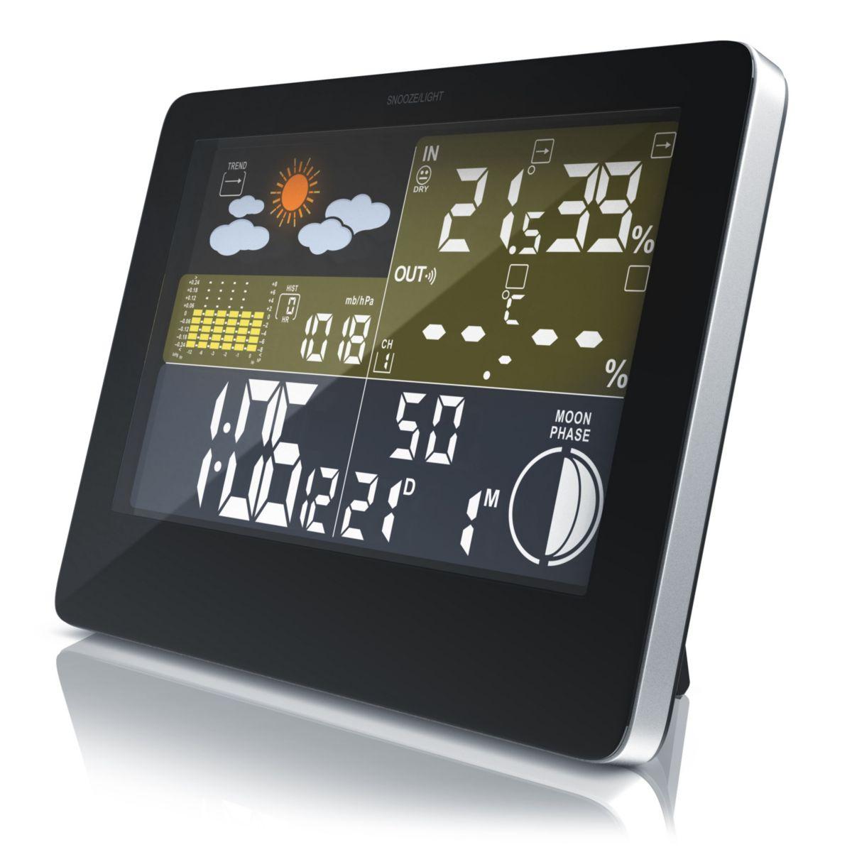 Bearware Funkwetterstation mit LCD Farbdisplay ...