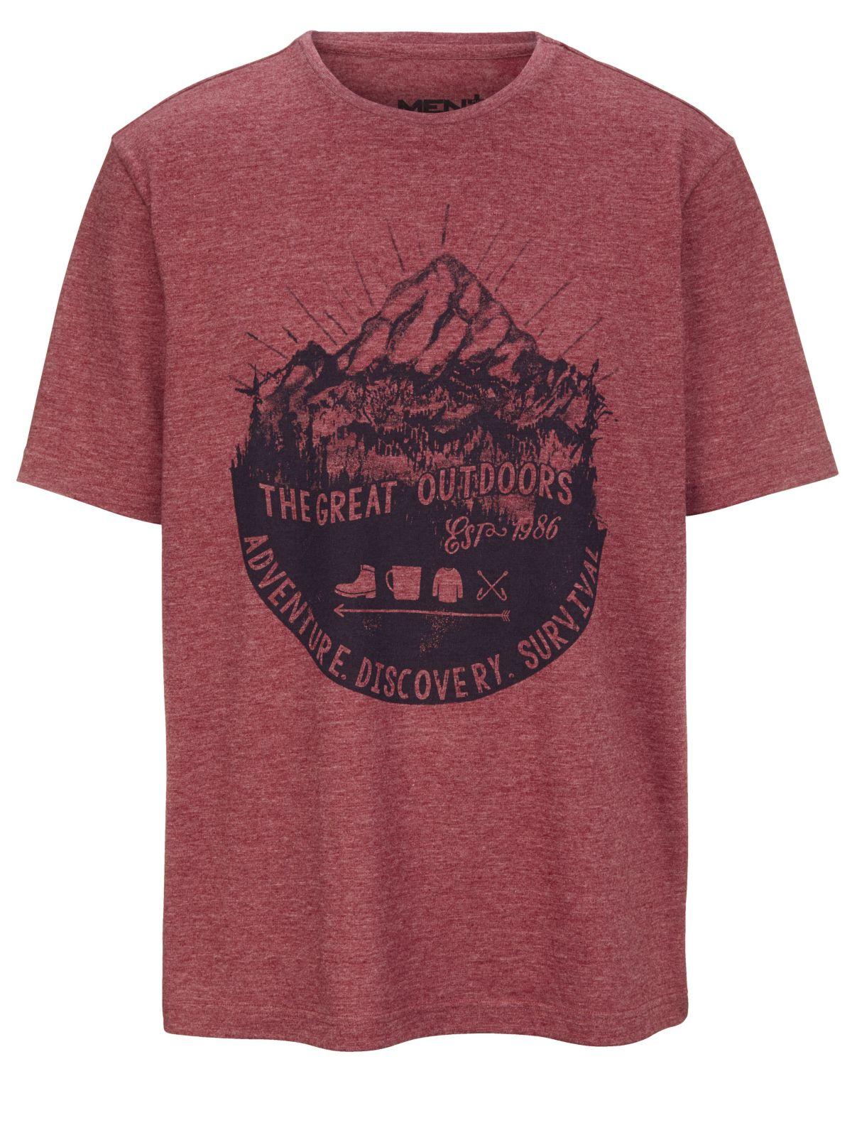 sale retailer f2e52 f38e2 Men Plus by Happy Size T-Shirt mit Berg-Print