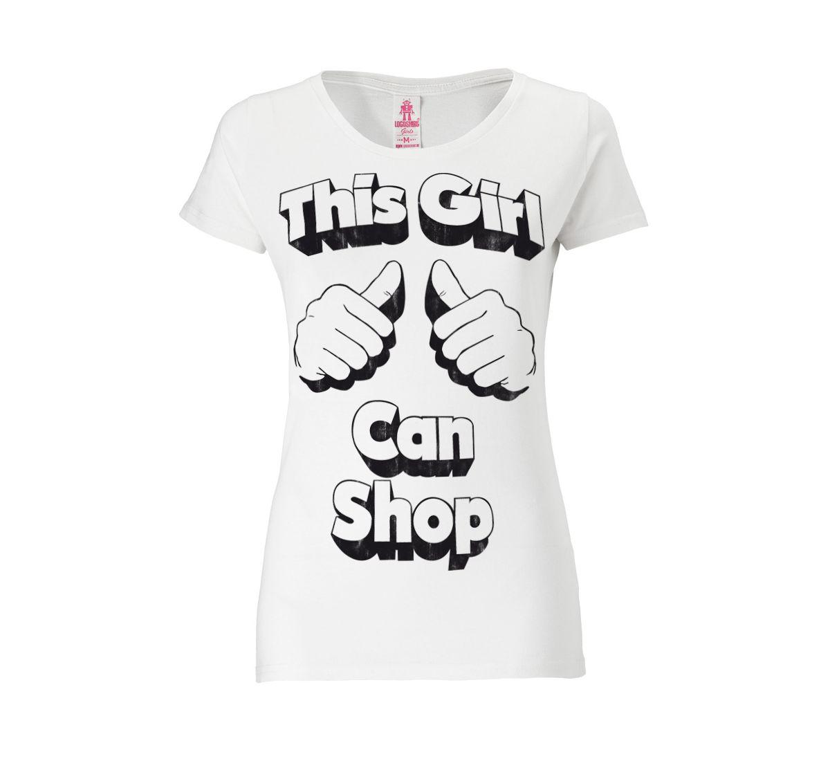 LOGOSHIRT Damenshirt »This Girl Can Shop«
