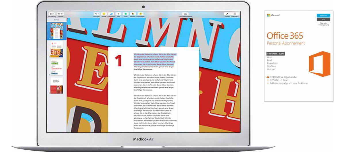 Apple MacBook Air, MQD32D/A, 13\´´ inkl. Office...