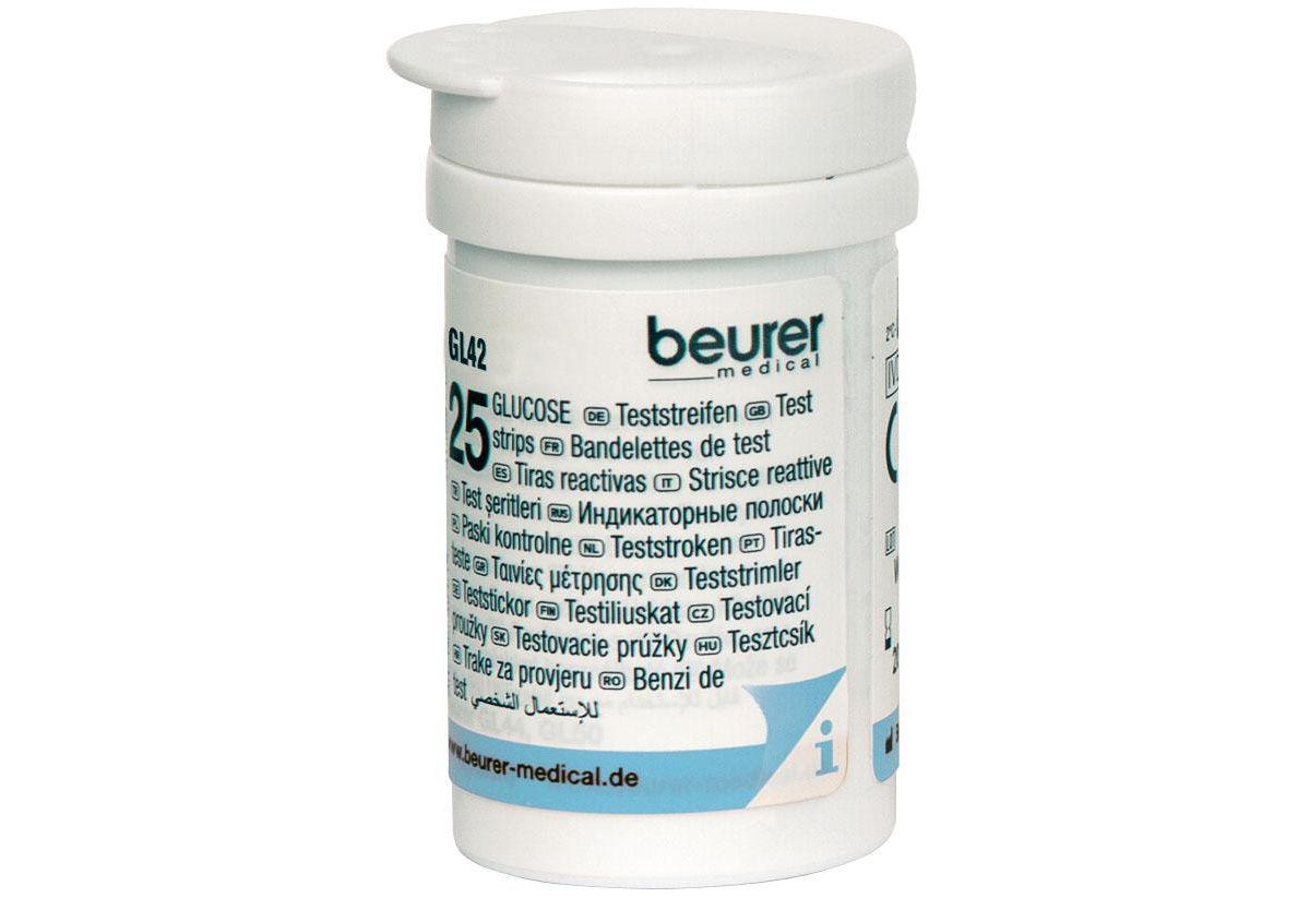 Beurer Blutzucker-Teststreifen GL 42/ GL 43, zur Verwendung mit dem Beurer Blutzucker-Messgerät