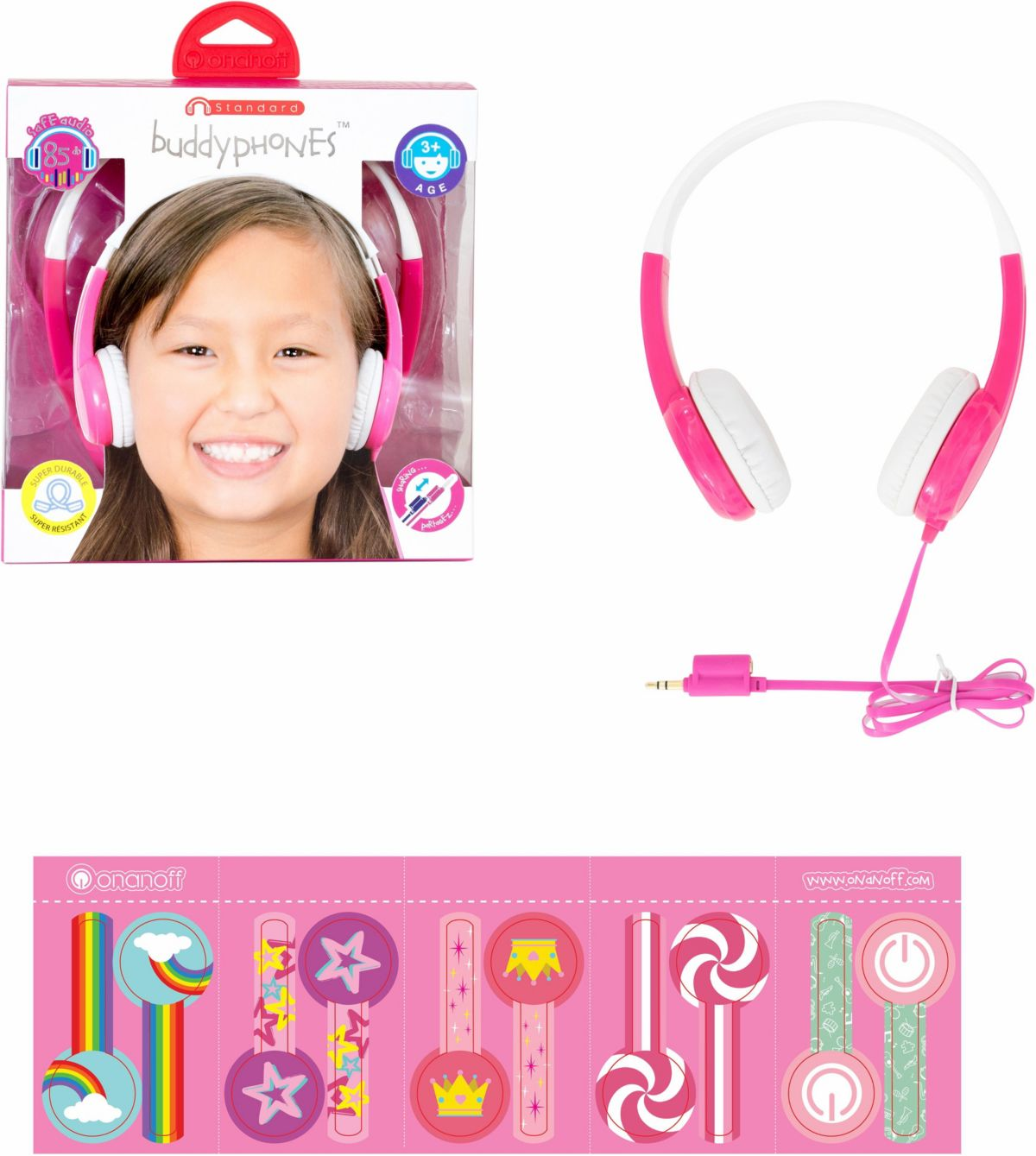 buddyphones? Kinderkopfhörer, »Standard pink«