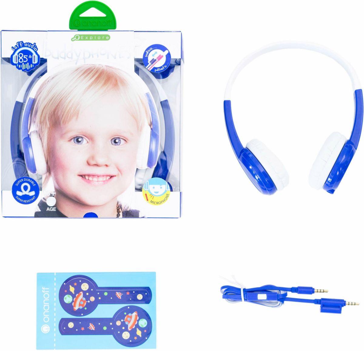buddyphones? Kinderkopfhörer, »Explore blau«