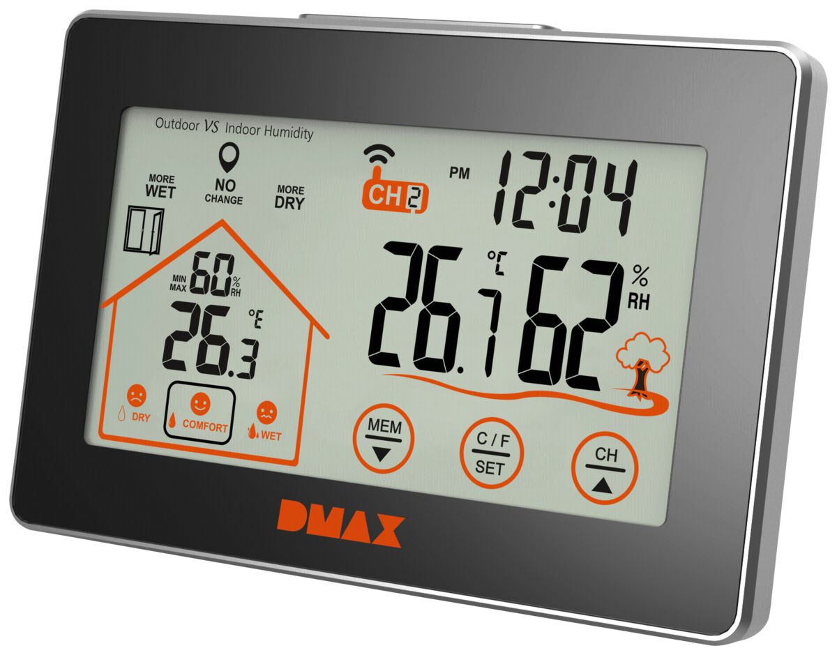 DMAX Thermo-/Hygrometer »Wetterstation«