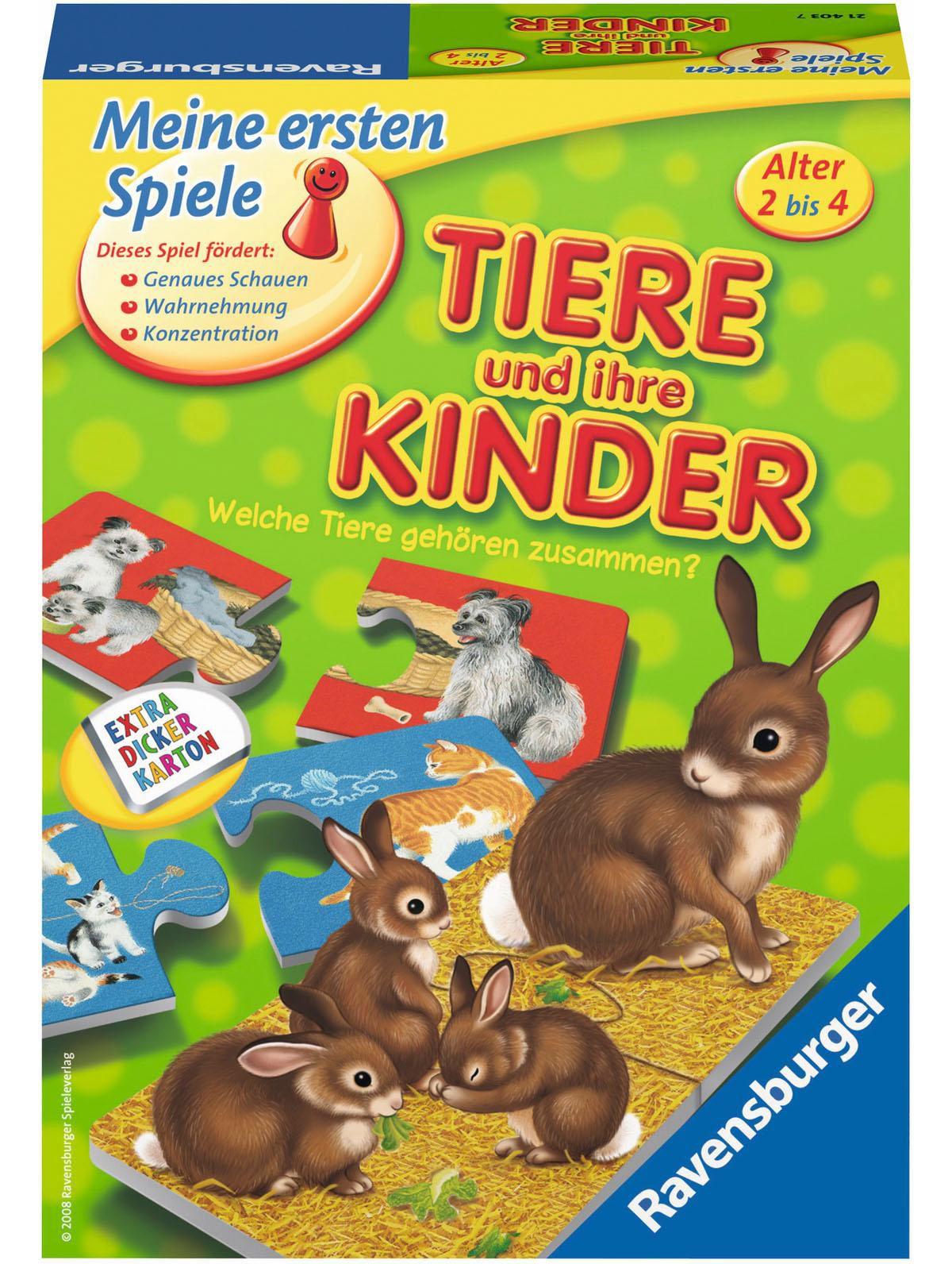 Ravensburger Lernspiel, »Tiere und ihre Kinder «