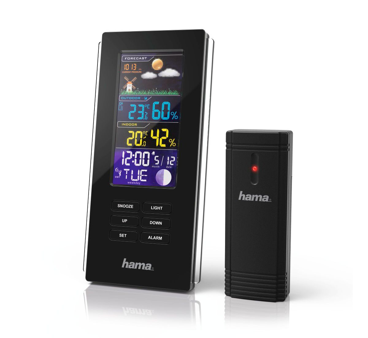 Hama Funk Wetterstation, Hygrometer/Barometer/T...
