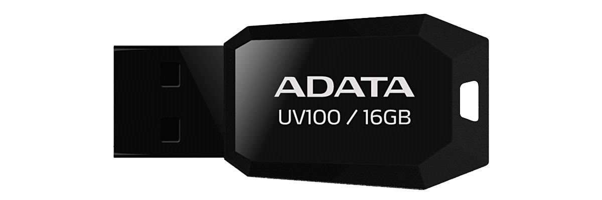 ADATA USB-Sticks »USB 2.0 Stick UV100 Black 16GB«