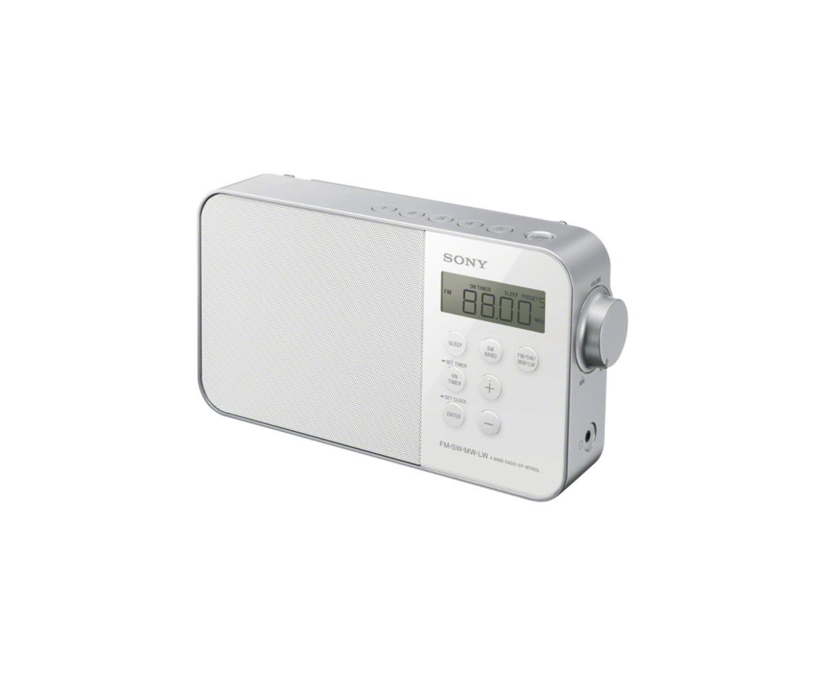 Sony tragbares, digitales Uhrenradio mit Alarmfunktion »ICF-M780SL«
