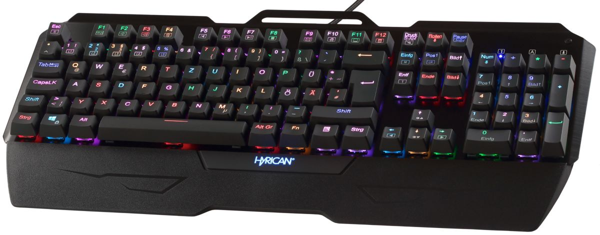 Hyrican Gaming USB Tastatur ST-MK29 mit RGB Bel...