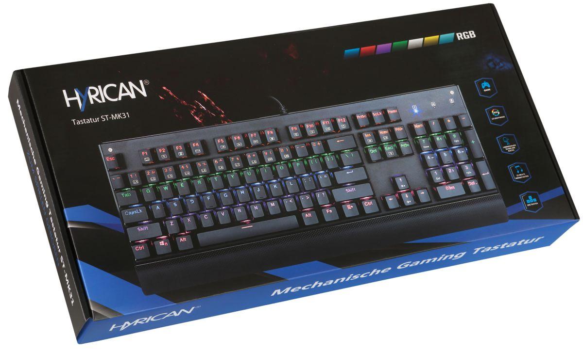 Hyrican Gaming USB Tastatur ST-MK31 mit RGB Bel...