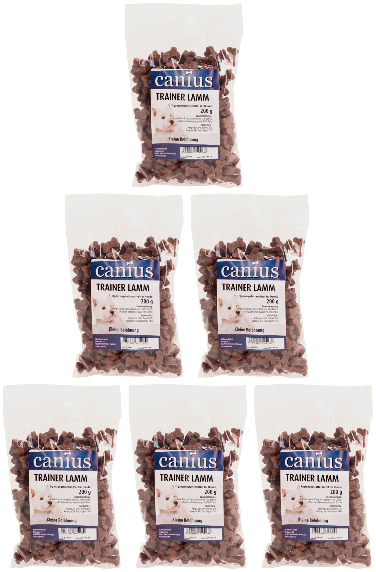CANIUS Hundesnack »Trainer Lamm«, 6 x 200 g