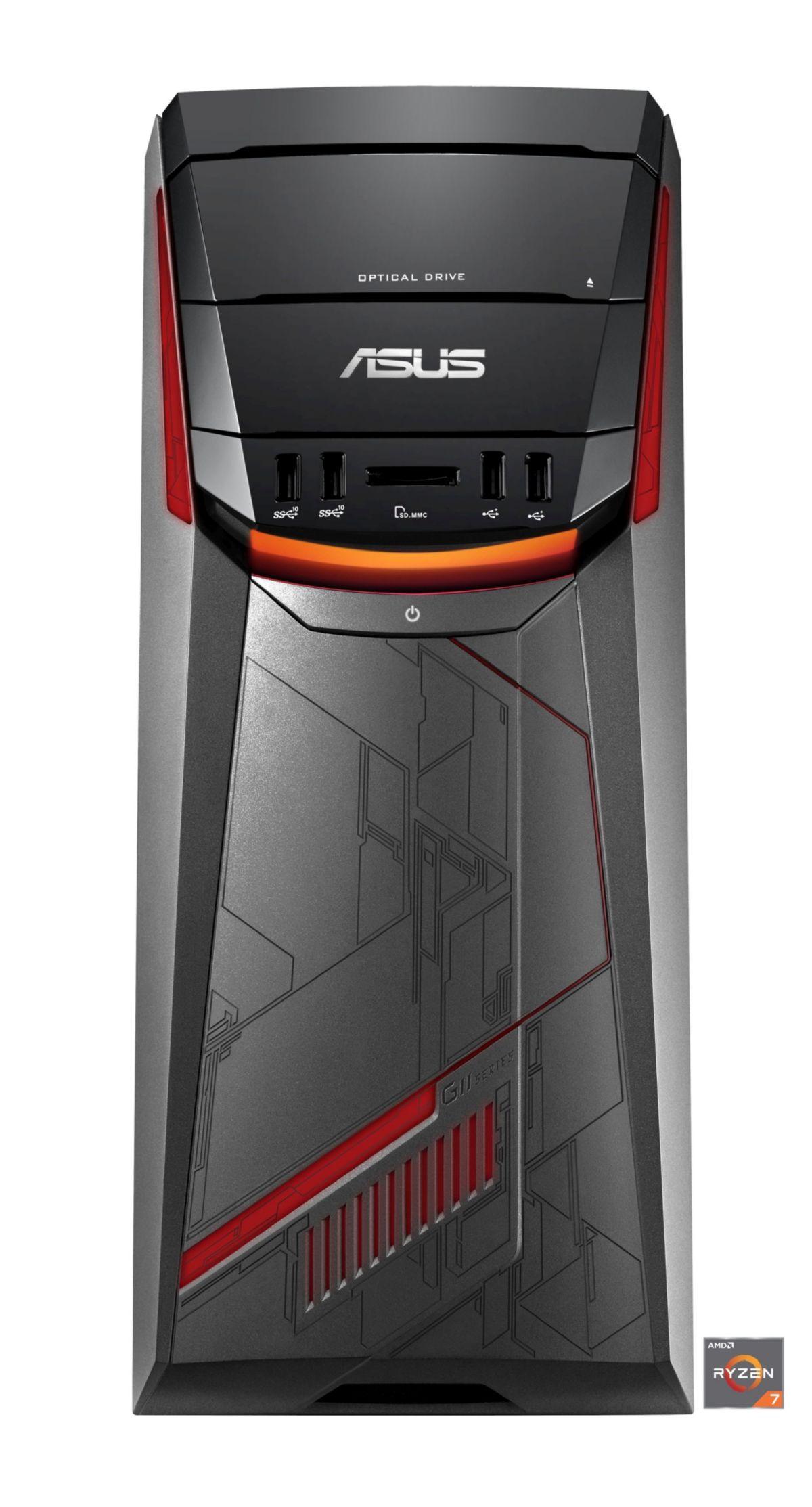 ASUS G11DF DE016T Gaming PC AMD 8 Core GTX 1070 128 GB SSD 1 TB HDD 16 GB