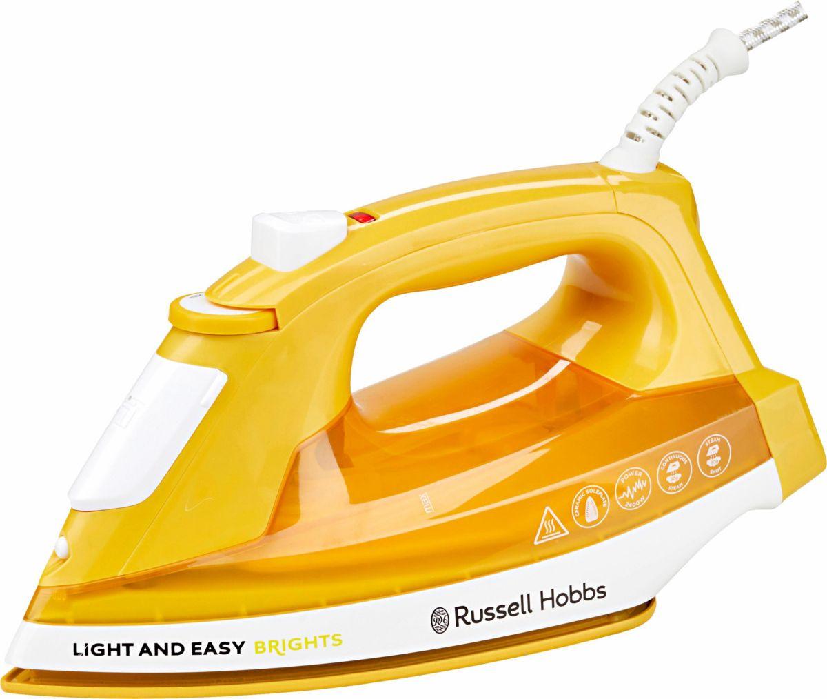 Russell Hobbs Dampfbügeleisen Light&Easy Brights 24800-56, Keramik-Bügelsohle, 2400 Watt, Mango