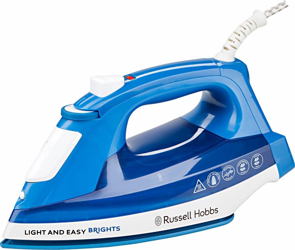 Russell Hobbs Dampfbügeleisen Light&Easy Brights 24840-56, Keramik-Bügelsohle, 2400 Watt, Aqua