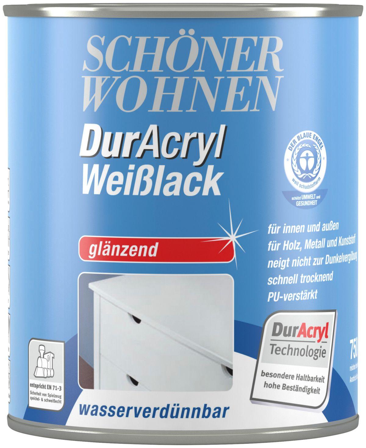 Schöner Wohnen Farbe Weißlack »DurAcryl glänzend, 750 ml«