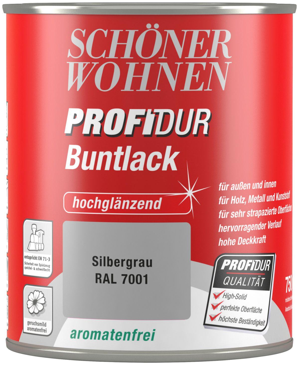 Schöner Wohnen Farbe Buntlack »ProfiDur hochglänzend, 750 ml silbergrau«