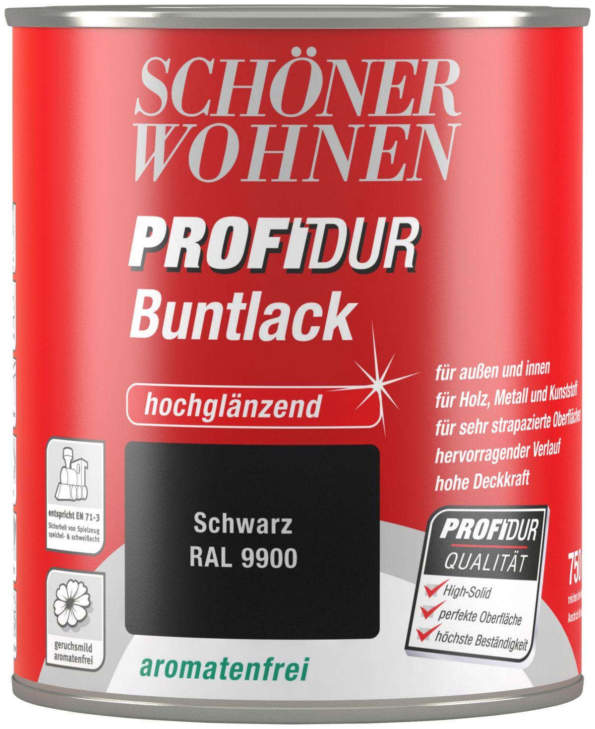 Schöner Wohnen Farbe Buntlack »ProfiDur hochglänzend, 750 ml schwarz«