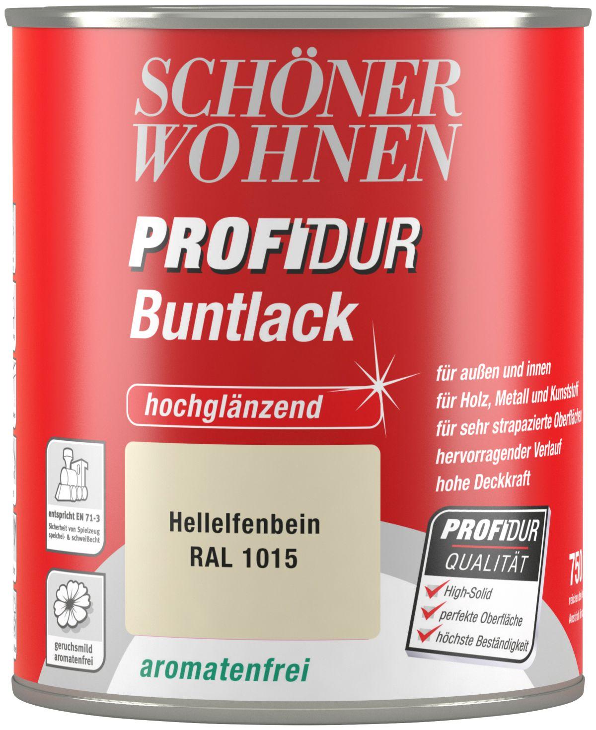 Schöner Wohnen Farbe Buntlack »ProfiDur hochglänzend, 750 ml hellelfenbein«