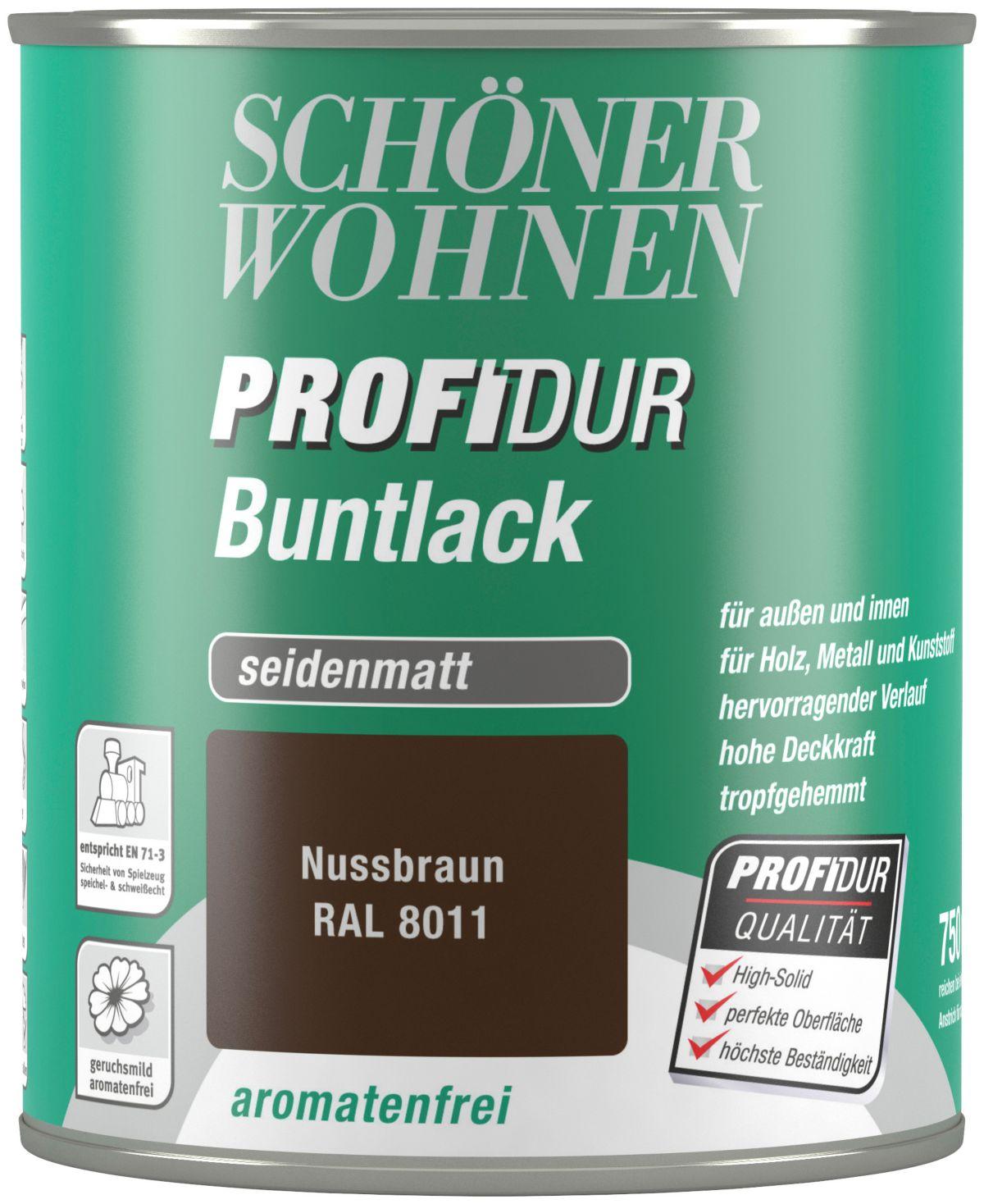 Schöner Wohnen Farbe Buntlack »ProfiDur seidenmatt, 750 ml nussbraun«