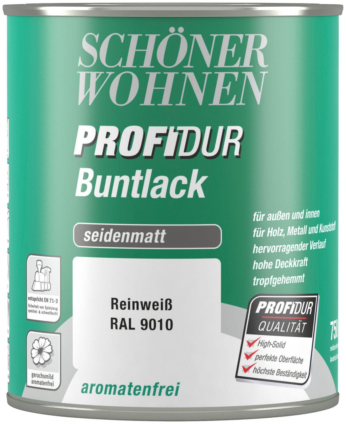 Schöner Wohnen Farbe Buntlack »ProfiDur seidenmatt, 750 ml reinwei߫