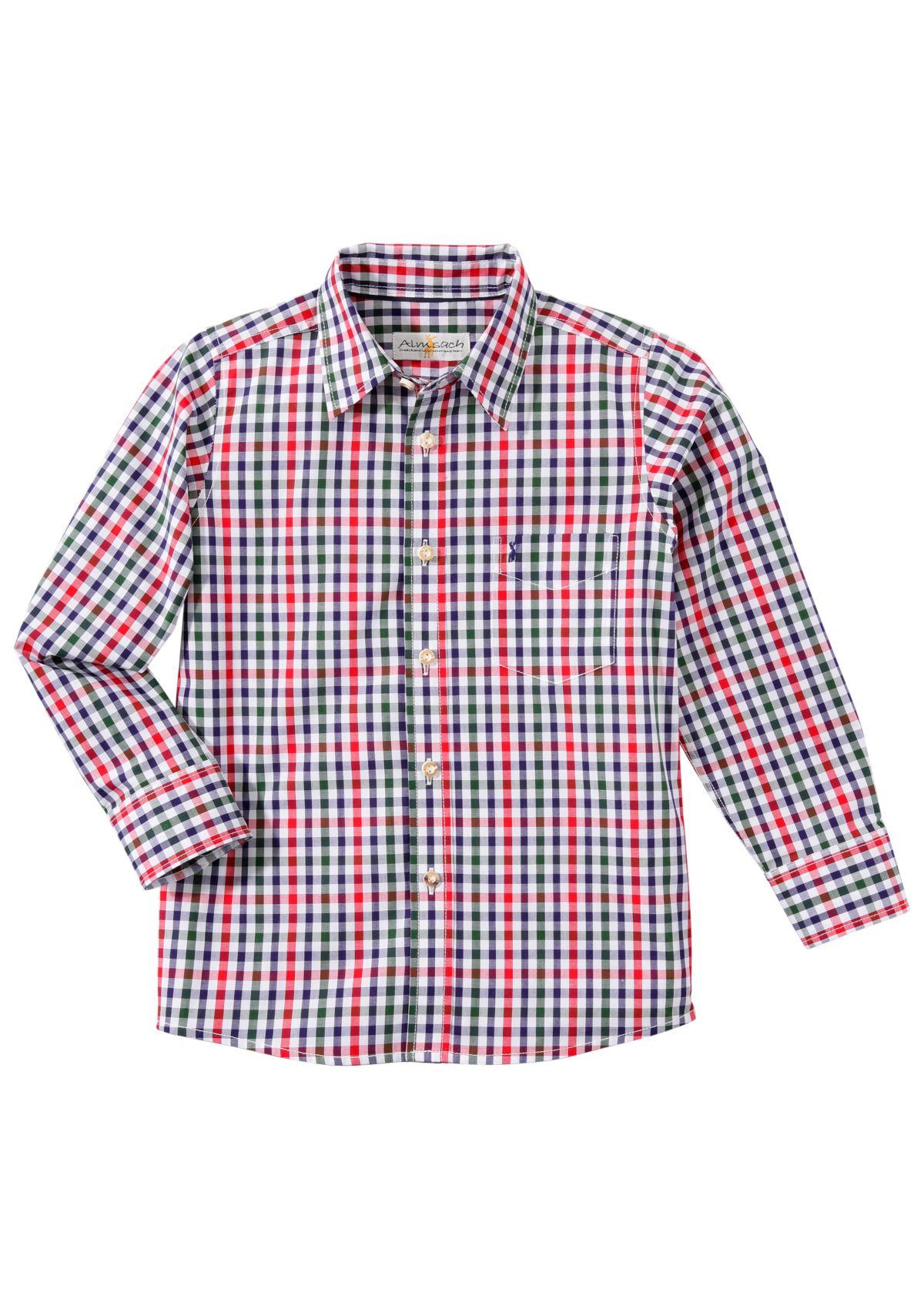 Almsach Trachtenhemd Kinder im Karomuster