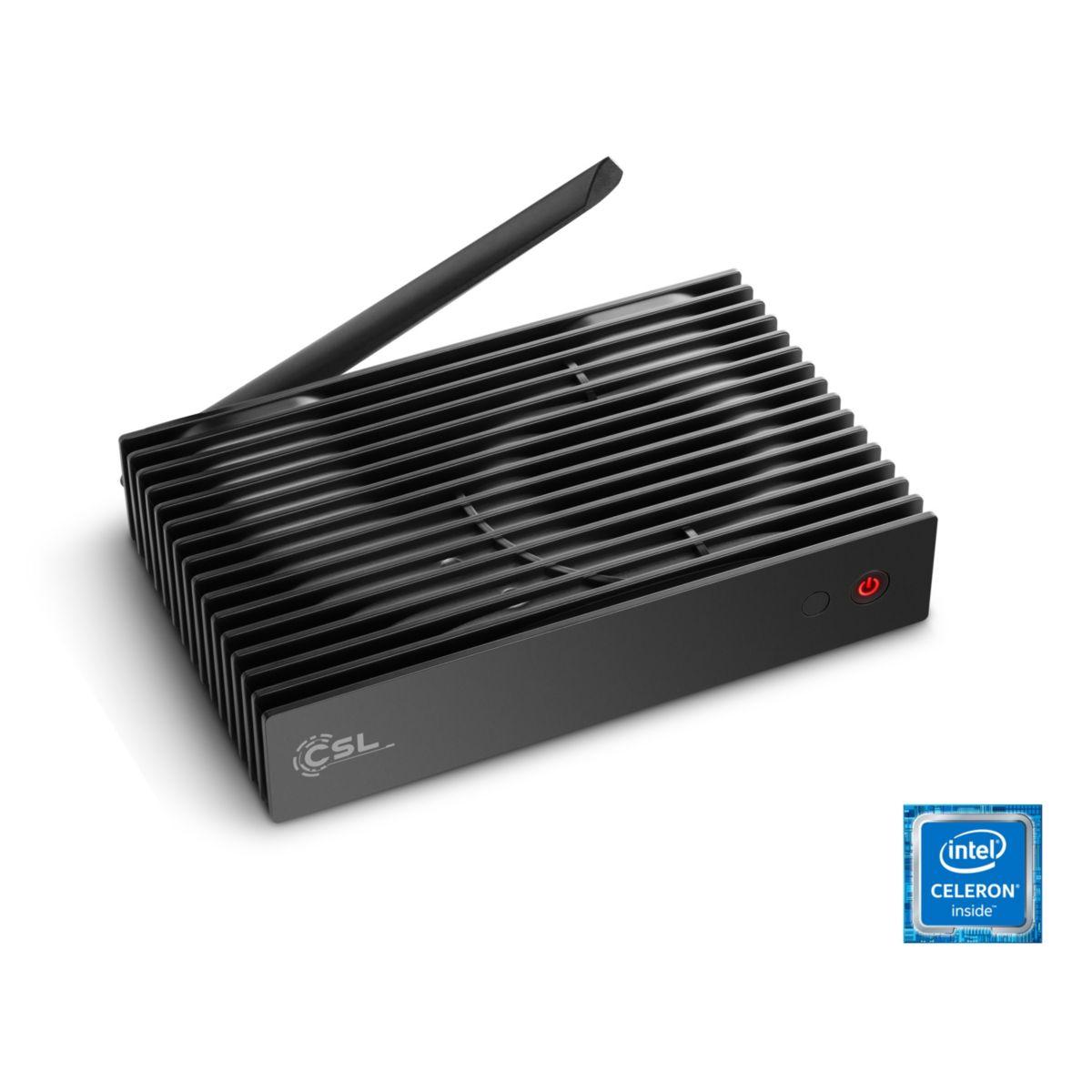 CSL Silent Mini PC - lautlos, WLAN, 4GB RAM »Na...