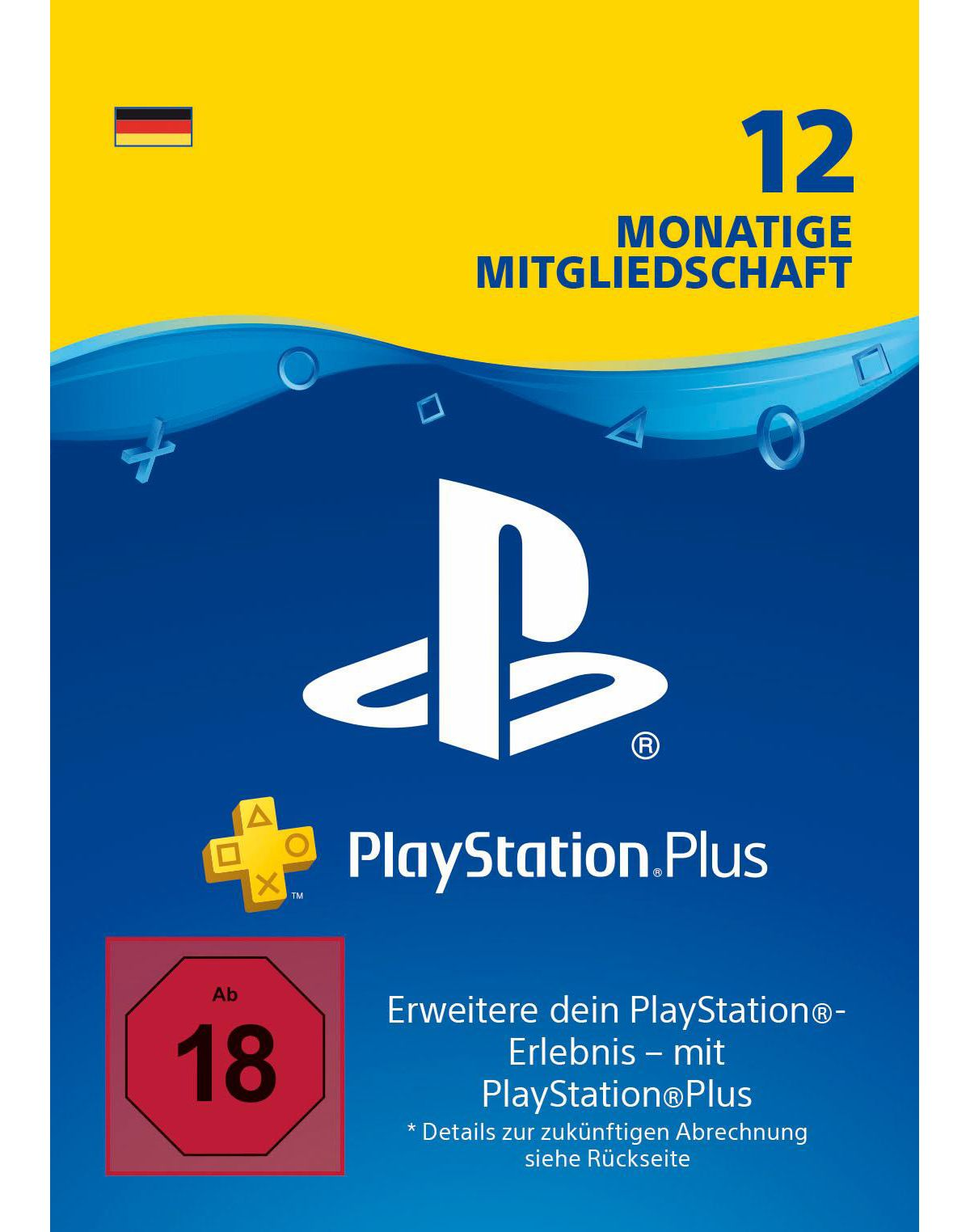 12 Monate PlayStation Plus Live Card