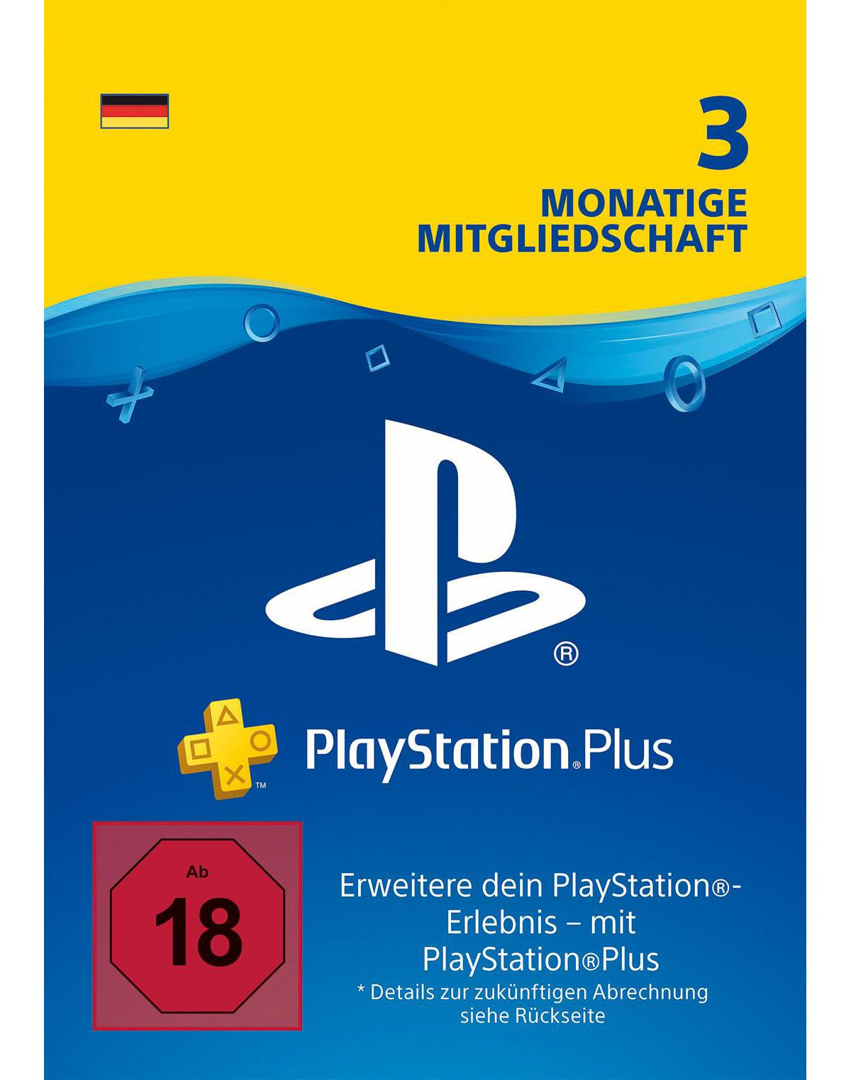 3 Monate PlayStation Plus Live Card