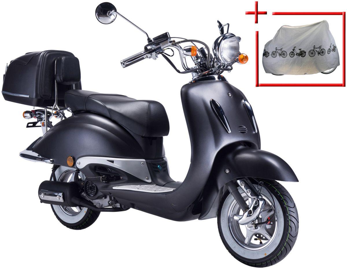 GT UNION Motorroller »Strada«, 50 ccm, mattschw...
