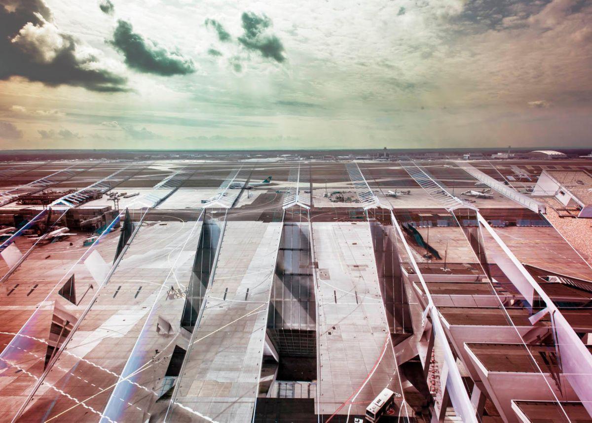 Giclee Fine Art »Flughafen« 140/100 cm