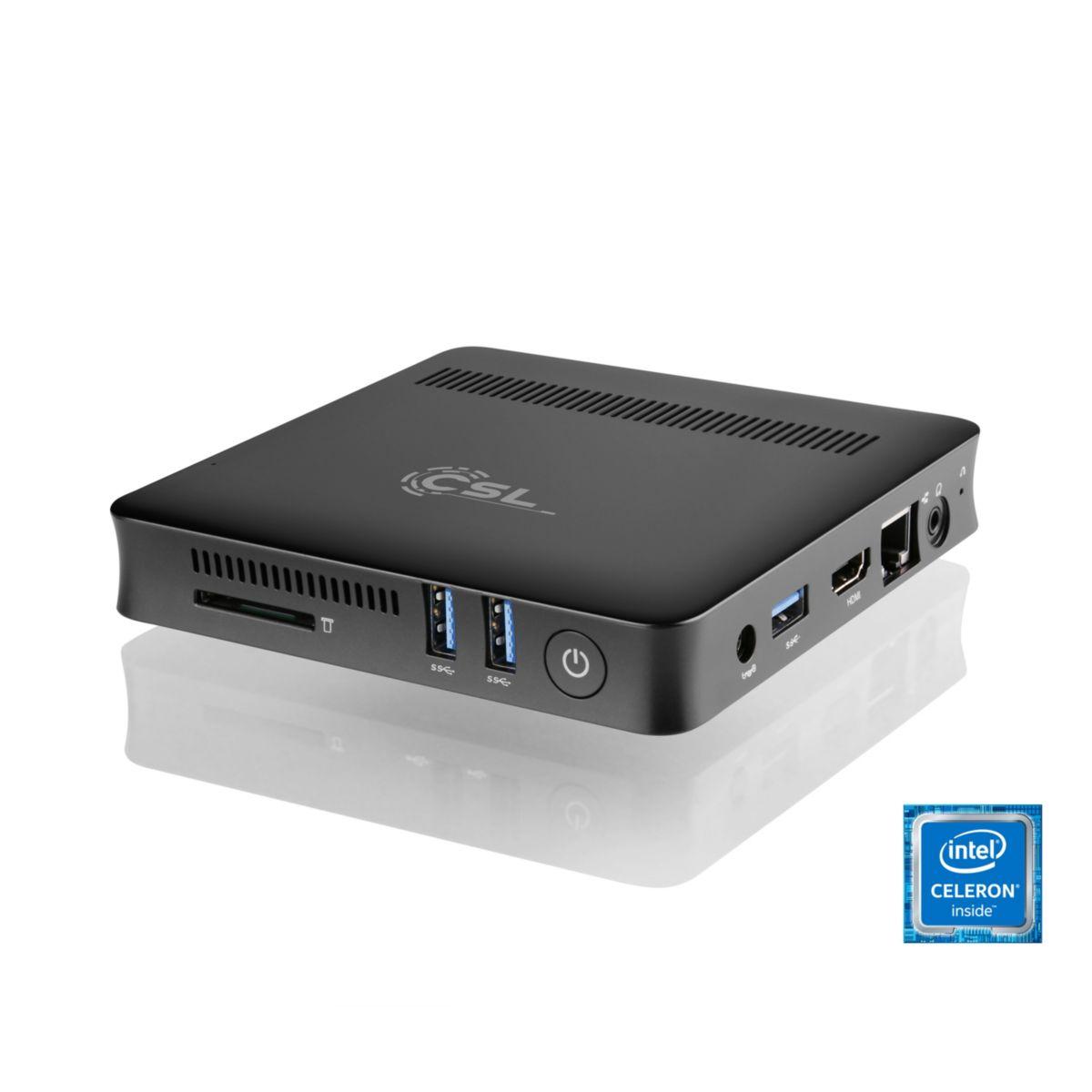 CSL Silent Mini PC - lautlos, Bluetooth, WLAN, ...