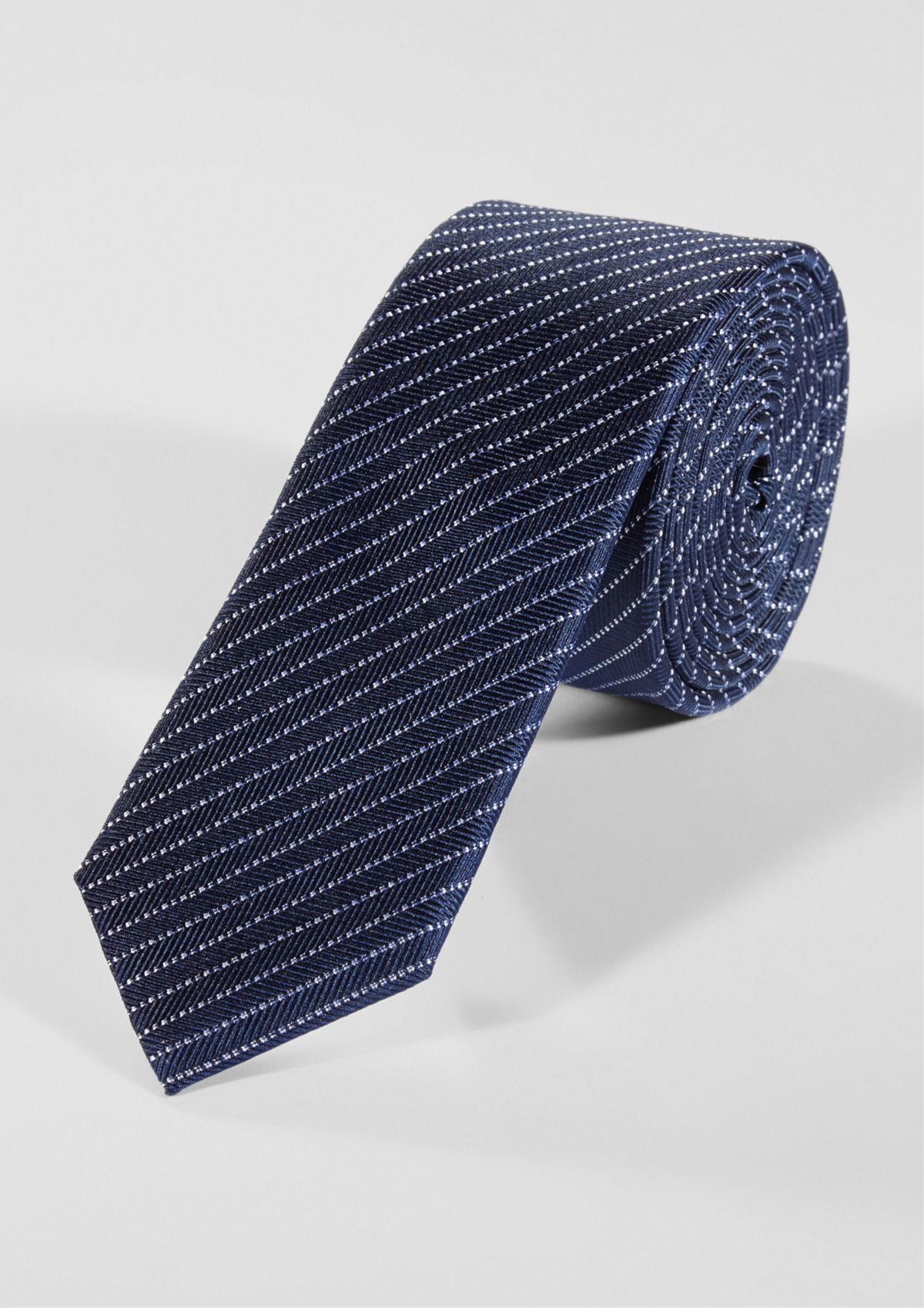 s.Oliver BLACK LABEL Krawatte mit Streifenmuster