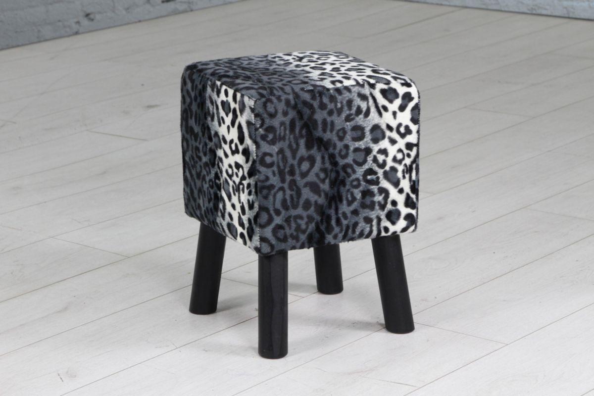 Home affaire Hocker »Shaggy« mit Holzbeinen in vielen verschiedenen Mustern, Tiefe 28 cm