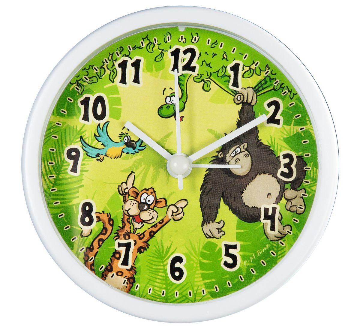 Hama Kinderwecker analoger Wecker für Kinder \´´Dschungel\´´´´ »geräuscharm, grün«´´