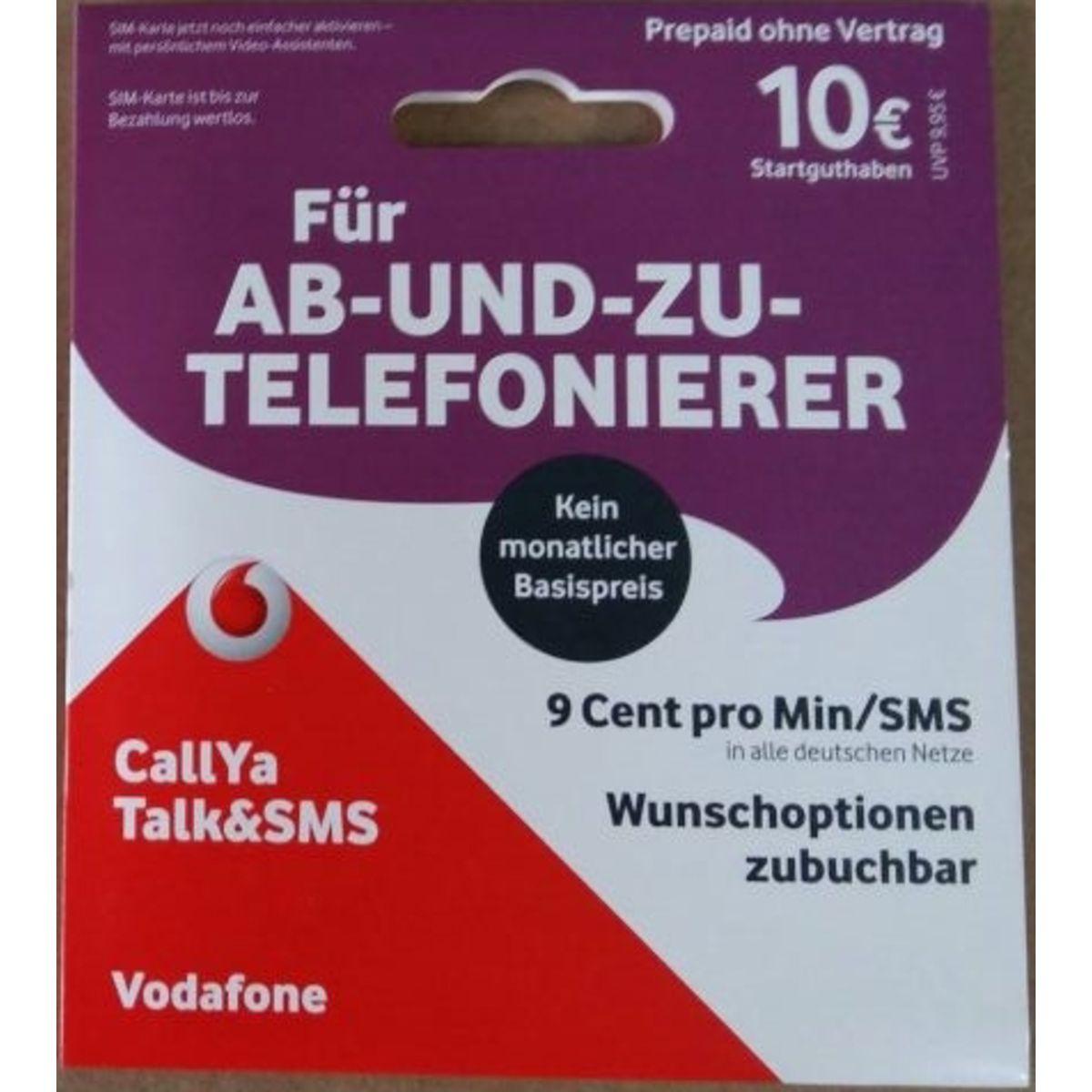 Vodafone CallYa-Prepaid-Karte »Talk&SMS mit 10 ...
