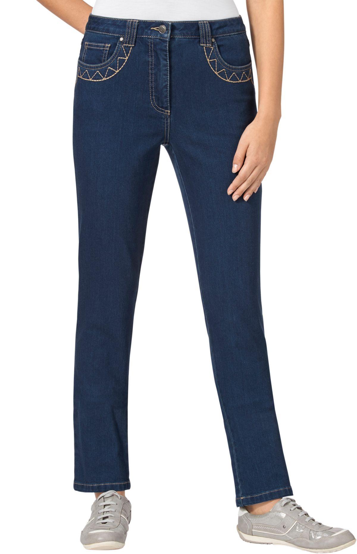 Collection L. Jeans mit Nietenverzierung