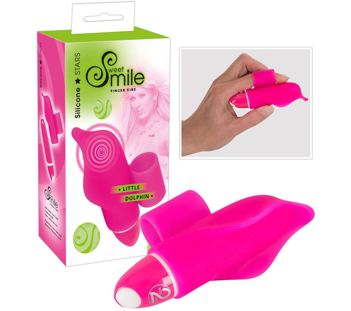 Sweet Smile Mini-Vibrator Little Dolphin, mit F...