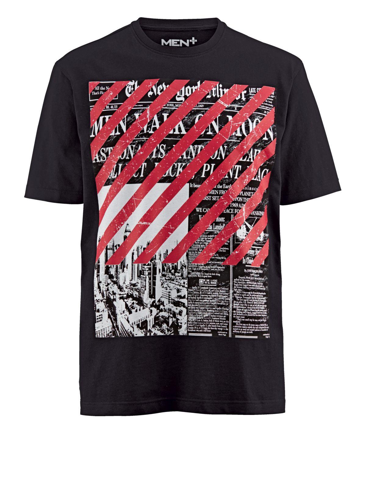 Men Plus by Happy Size T-Shirt mit Frontprint