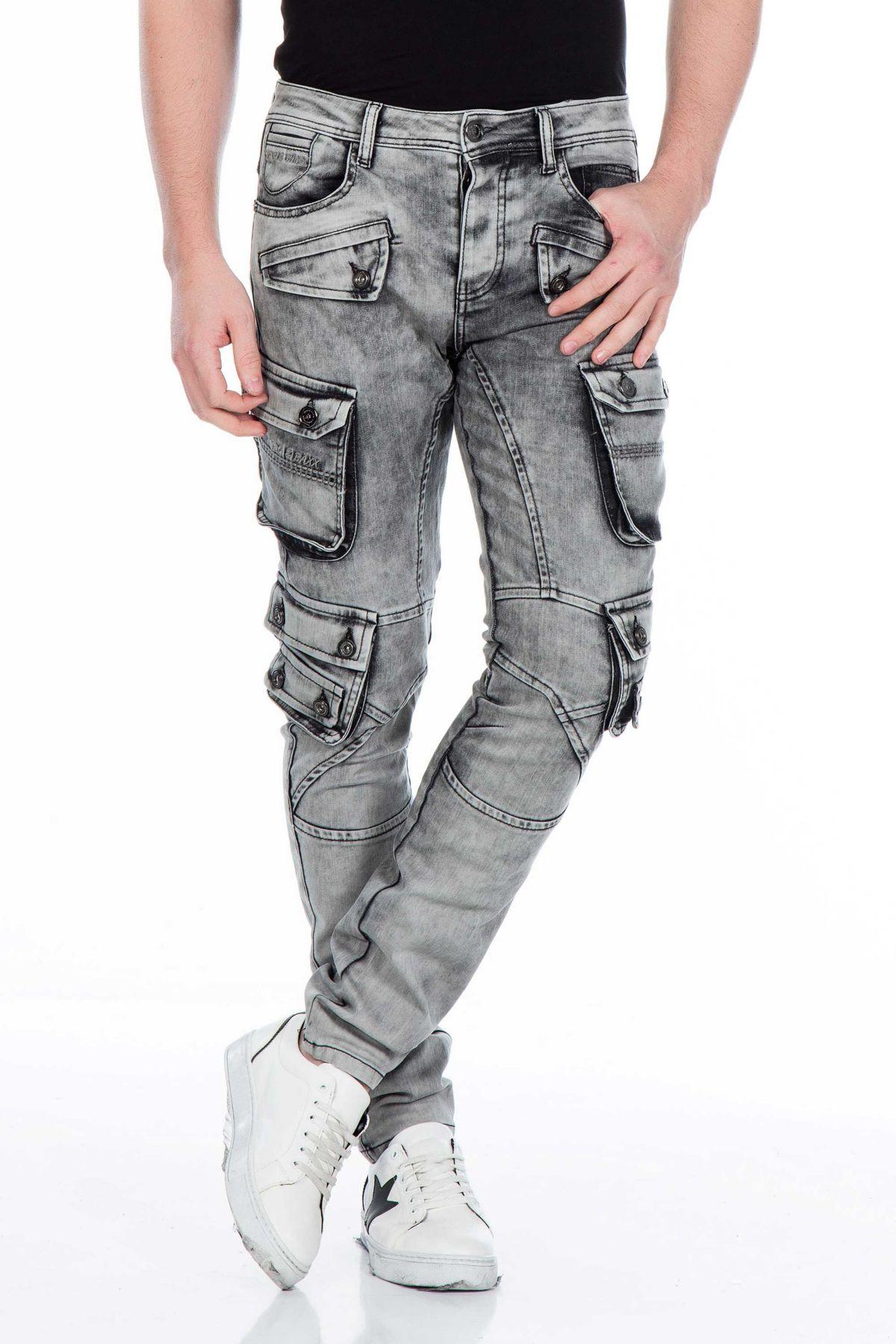 Cipo & Baxx Herren Jeans im Cargo-Style