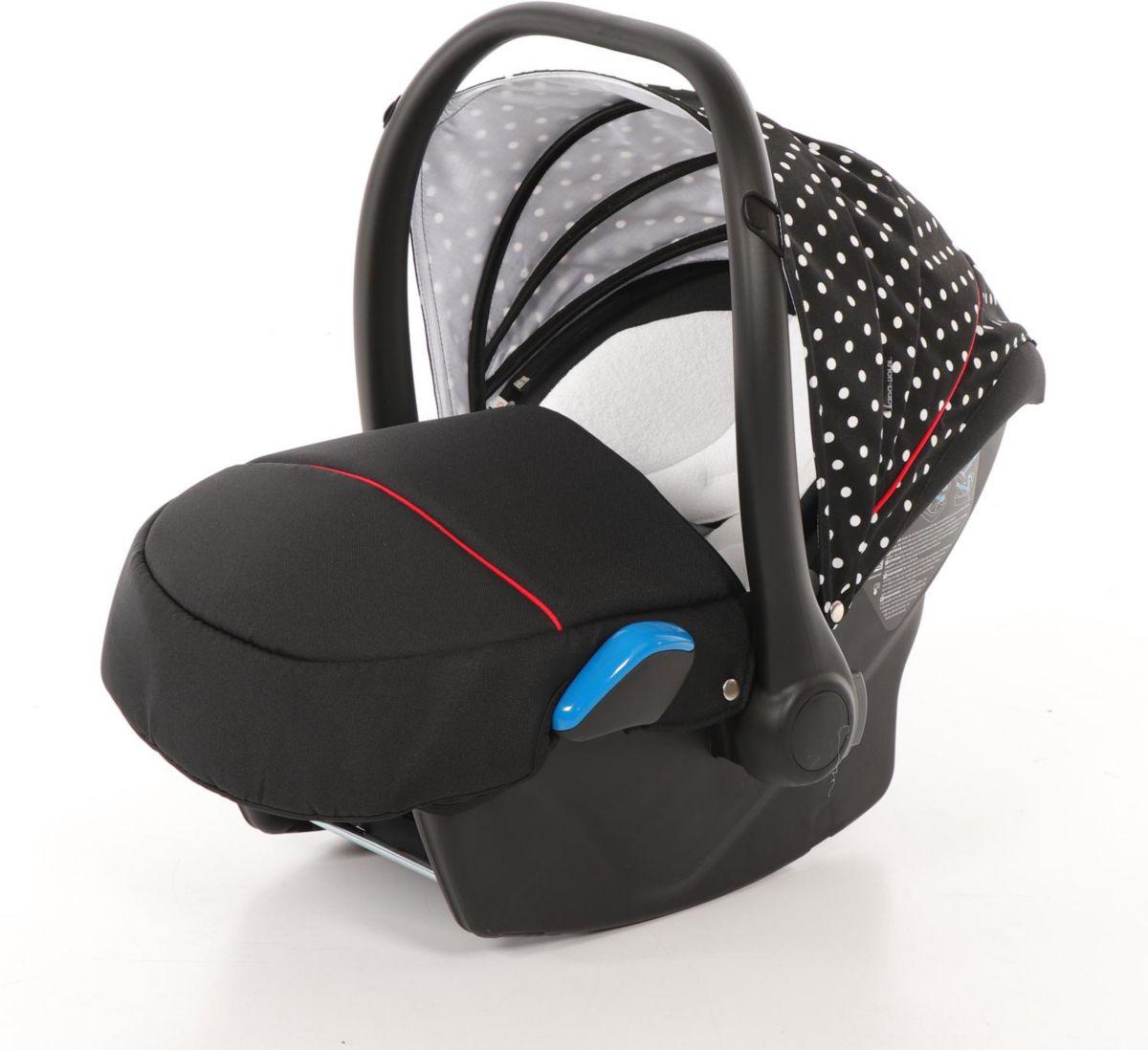 knorr-baby Babyschale, 0 - 13 kg, »Milan für Voletto Tupfen, schwarz-wei߫