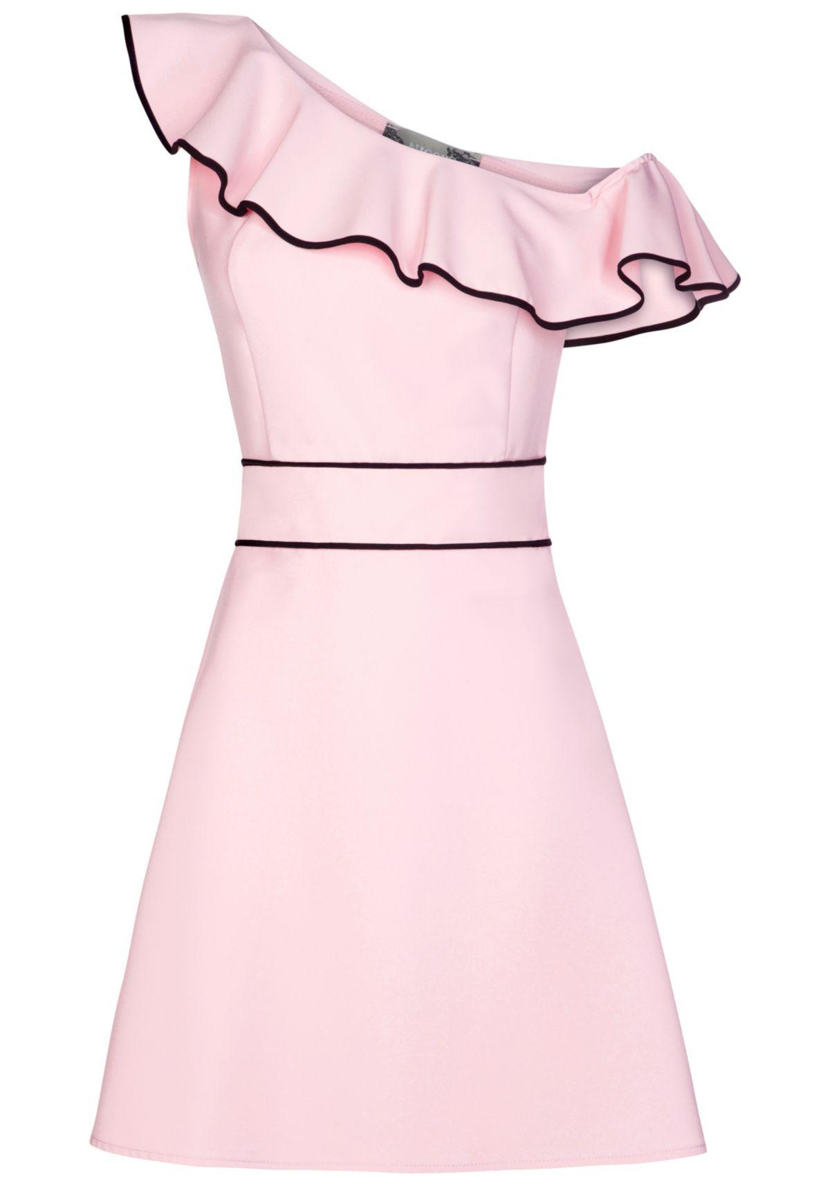 NICOWA Stilvolles Kleid ELINA mit femininen Det...