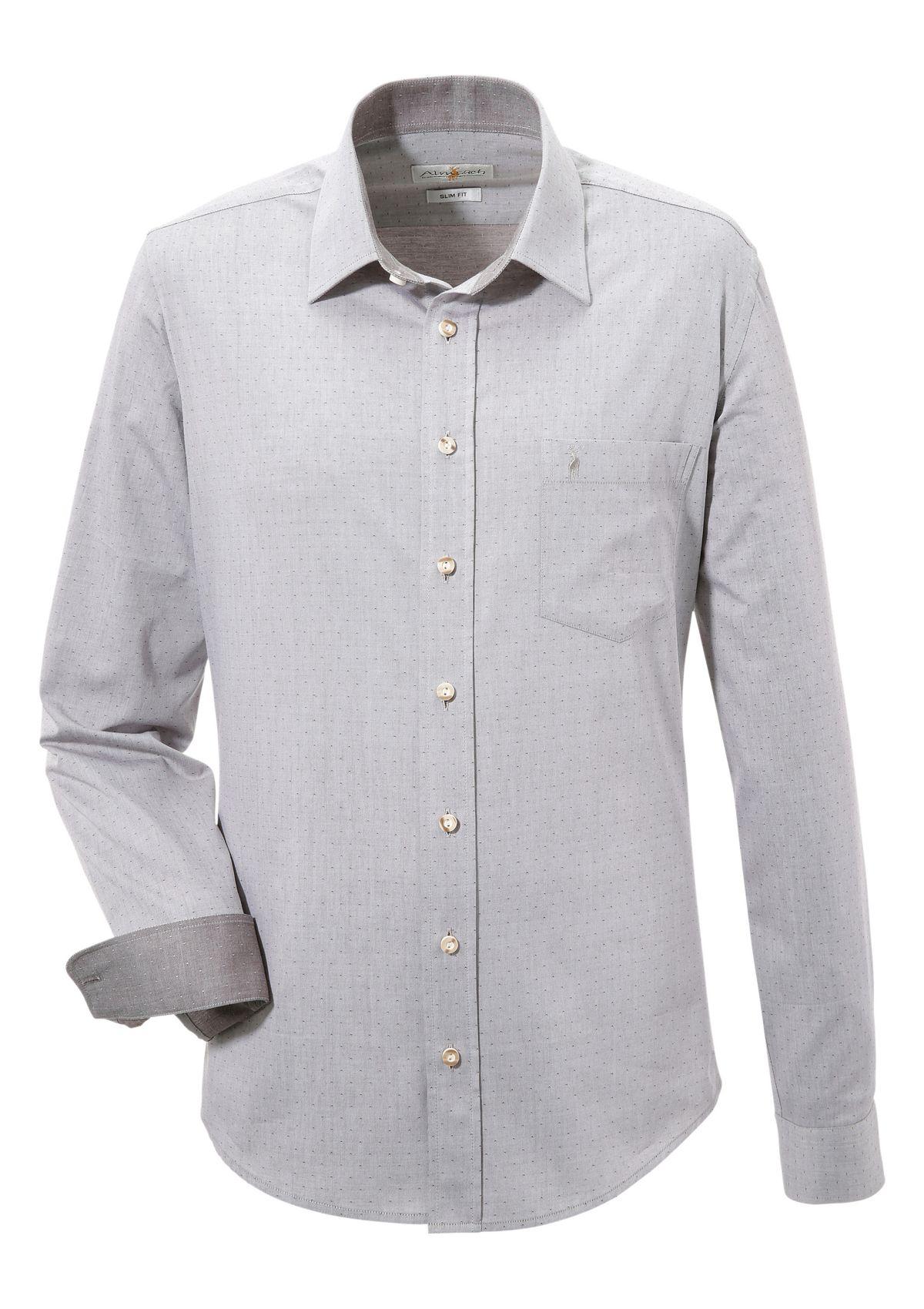 Almsach Trachtenhemd mit modischem Design