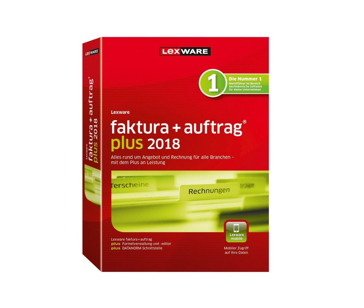 LEXWARE Faktura+Auftrag plus 2018 Jahresversion...