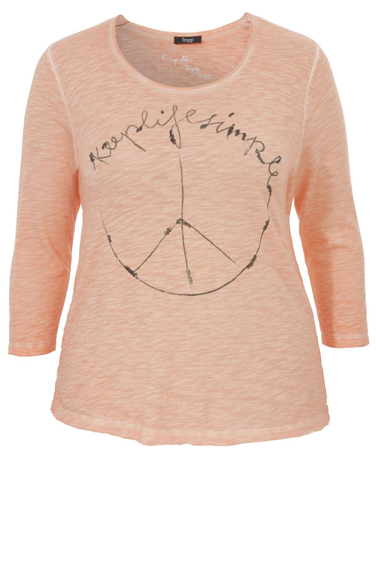 FRAPP Shirt mit Peace-Motiv