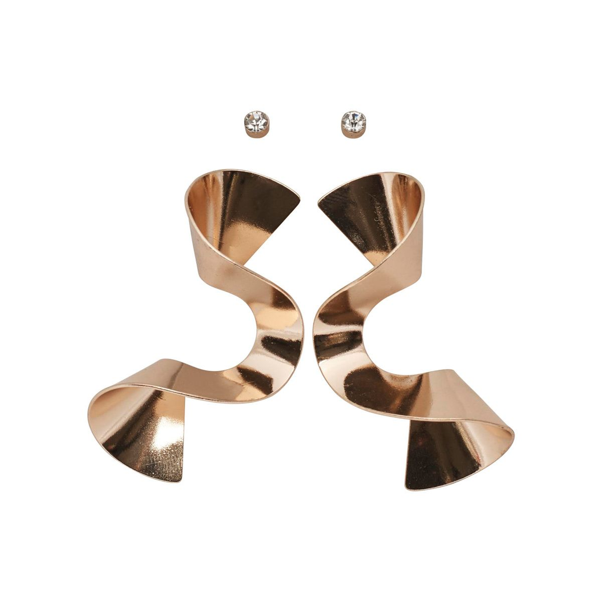 Only 2er-Pack, spiralförmige Ohrringe