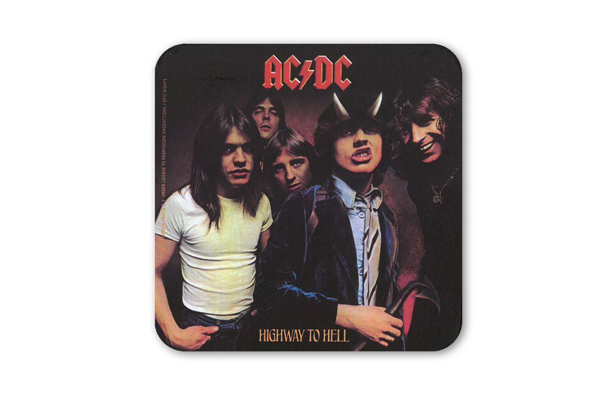 LOGOSHIRT Untersetzer im AC/DC Album-Design
