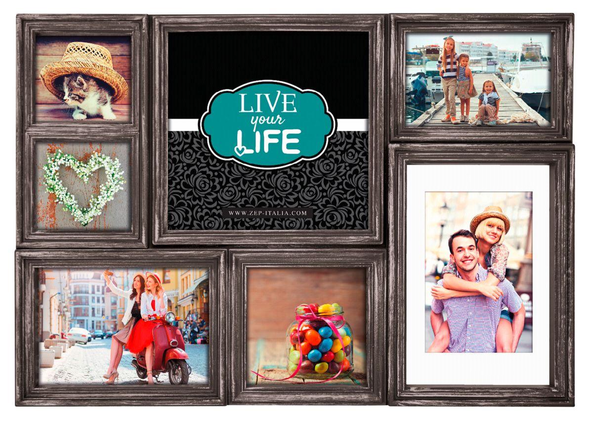 ZEP Galerierahmen »Derry 7 Bilder Kunststoff Galerierahmen HA07K«