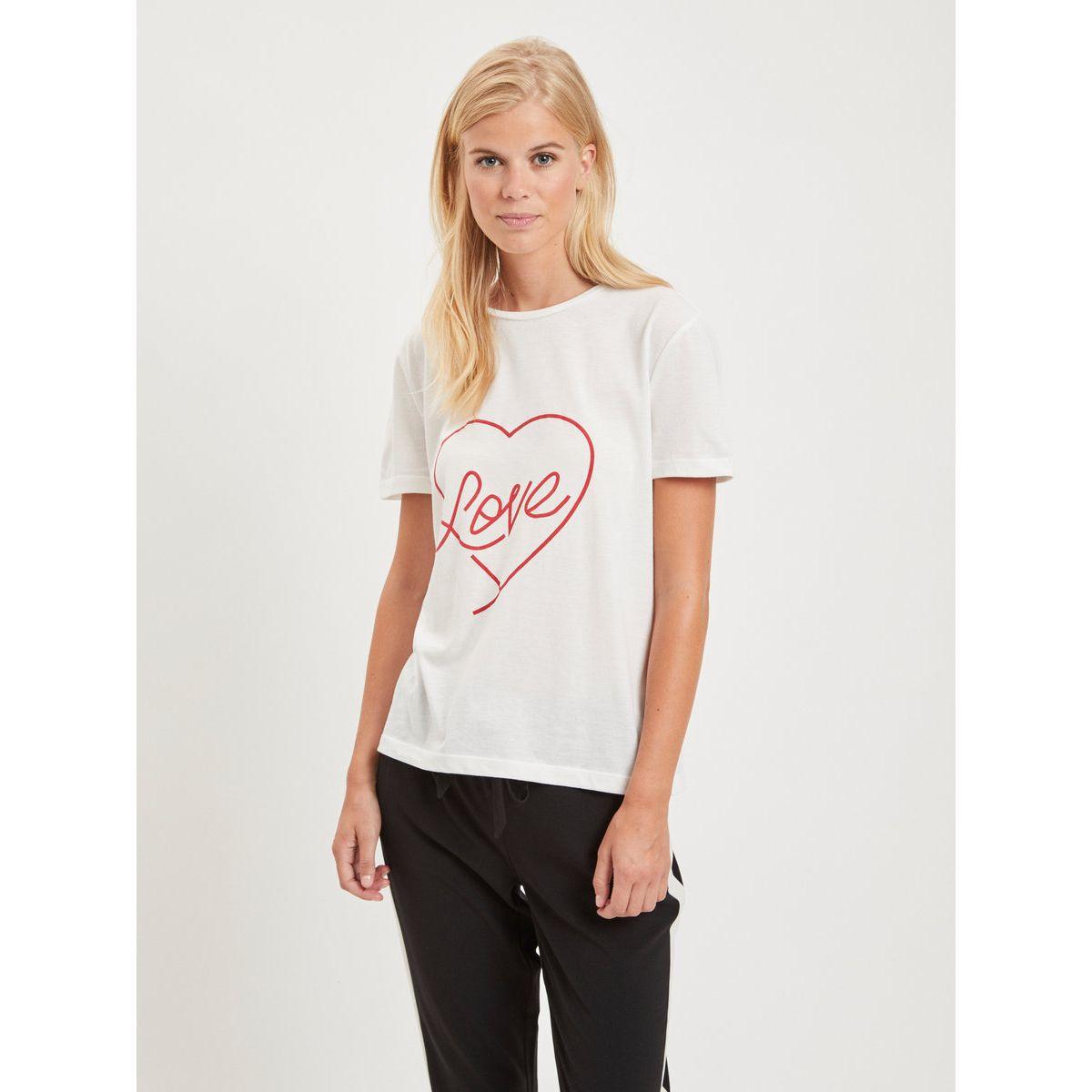 Vila Love Print- T-Shirt